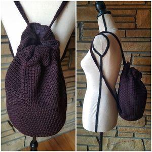 🌹THE SAK Indonesian Crochet Merlot Backpack Bag